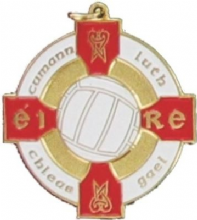 Gold & Red 34mm Gaelic Football Medal